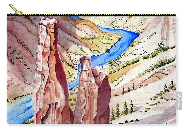 Canyon Carry-all Pouch featuring the painting The Canyon by Jimmy Smith