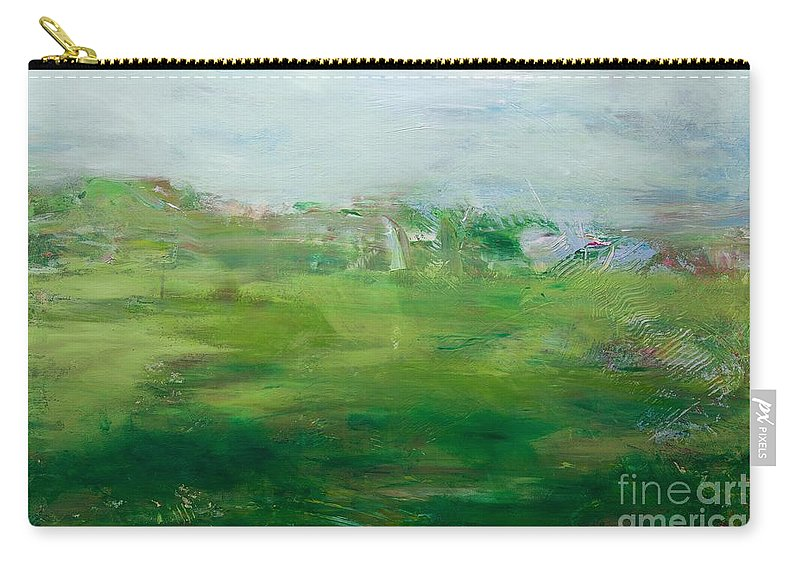 Landscape Carry-all Pouch featuring the painting The Cape by Allan P Friedlander