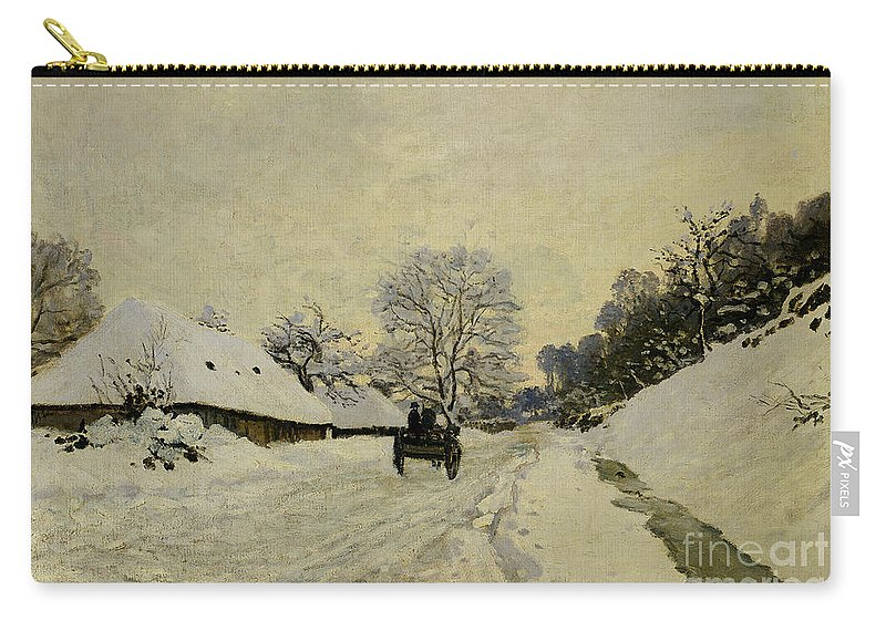 The Cart Carry-all Pouch featuring the painting The Cart by Claude Monet