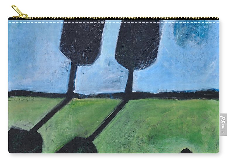 Bird Carry-all Pouch featuring the painting The Casual Observer by Tim Nyberg