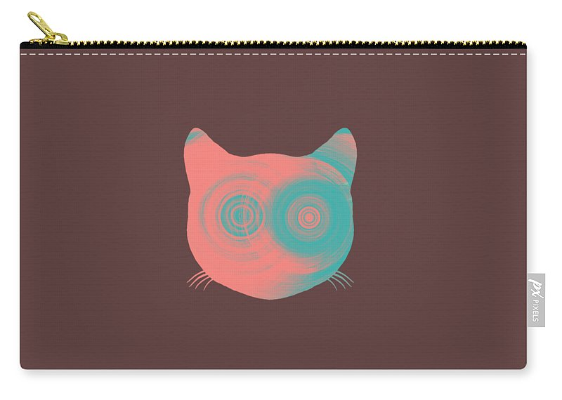 Carry-all Pouch featuring the digital art The Cat by Izik Shepherd
