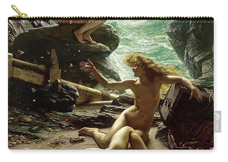 The Cave Of The Storm Nymphs Carry-all Pouch featuring the painting The Cave Of The Storm Nymphs by Sir Edward John Poynter