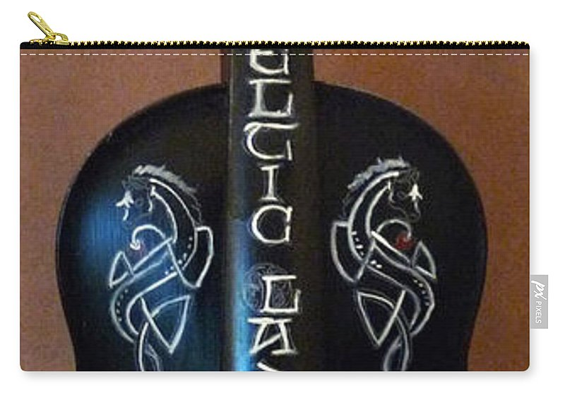 Violin Carry-all Pouch featuring the painting The Celtic Lady 1 by Richard Le Page