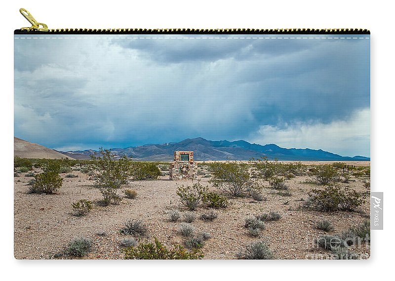 Rhyolite Carry-all Pouch featuring the photograph The Cemetery by Stephen Whalen