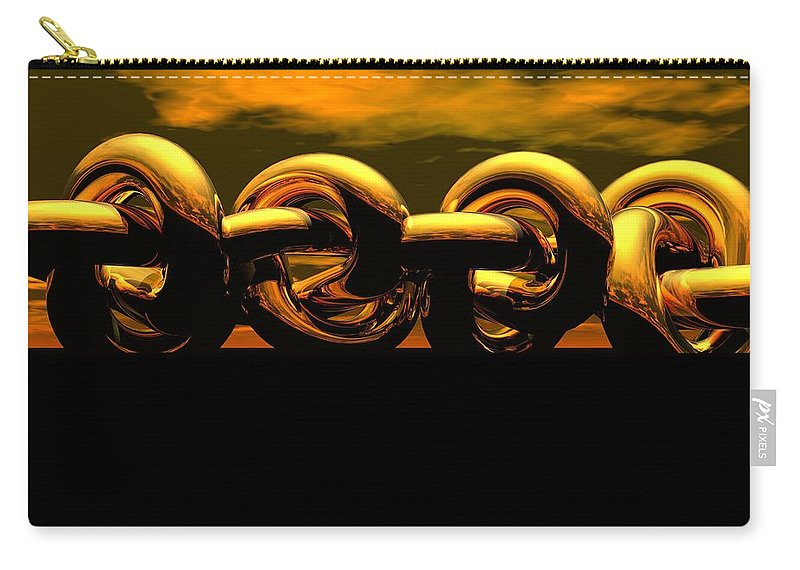 Chain Carry-all Pouch featuring the digital art The Chain by Robert Orinski