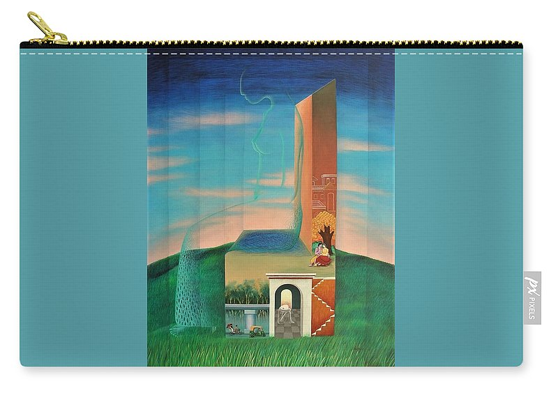 Romantic Carry-all Pouch featuring the painting The Chair For You by Raju Bose