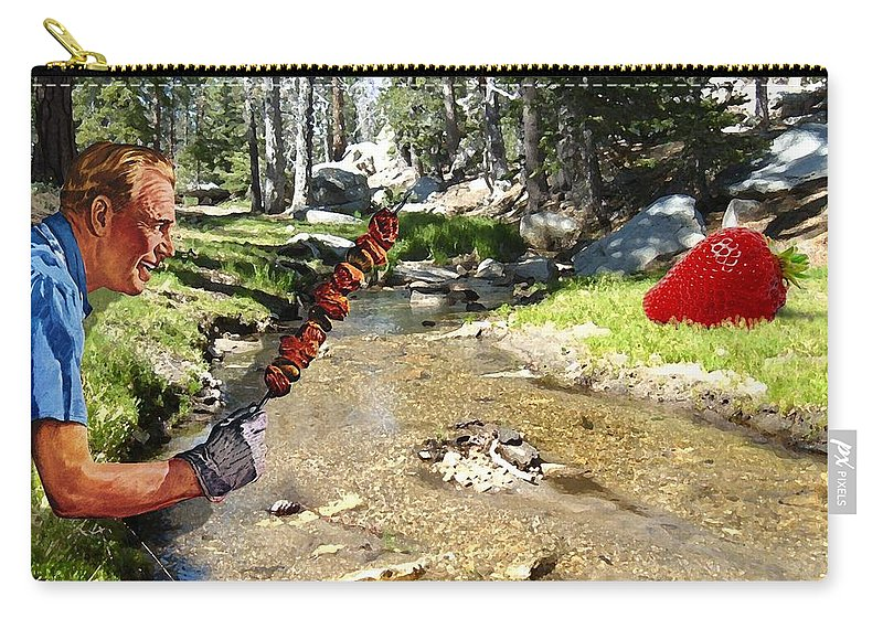 Digital Art Carry-all Pouch featuring the photograph The Challenge by Snake Jagger