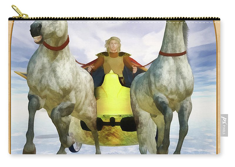 Magic Carry-all Pouch featuring the digital art The Chariot by John Edwards