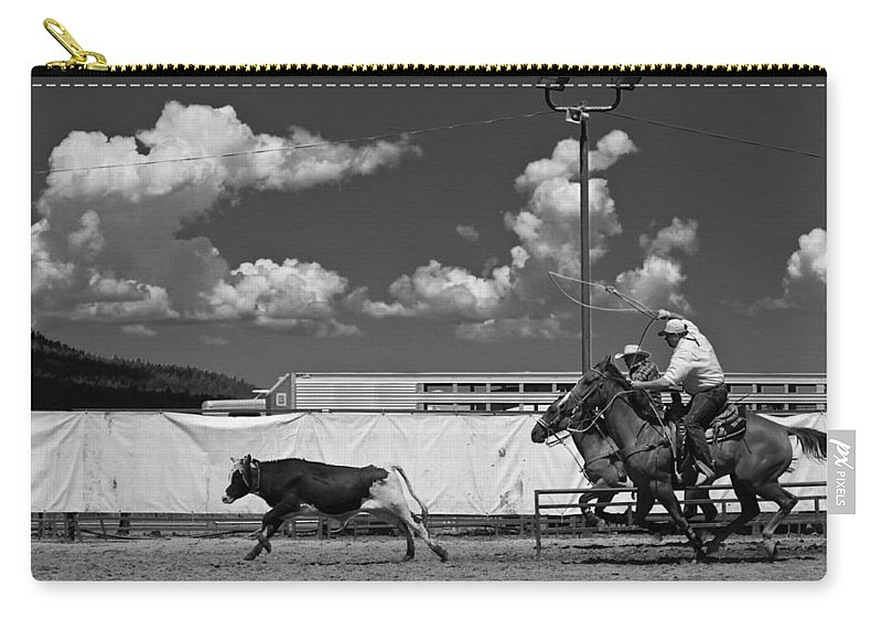 Calf Carry-all Pouch featuring the photograph The Chase For Time by Scott Sawyer