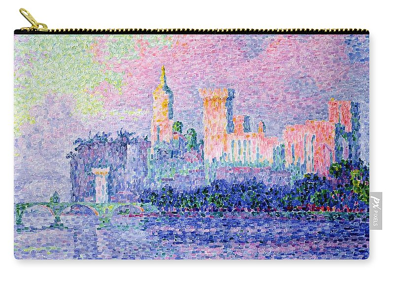 The Chateau Des Papes Carry-all Pouch featuring the painting The Chateau Des Papes by Paul Signac