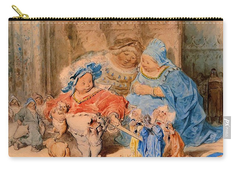 The Carry-all Pouch featuring the painting The Childhood Of Gargantua by Dore Gustave