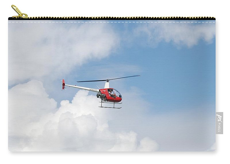 Helocopter Carry-all Pouch featuring the photograph The Chopper by Rob Hans