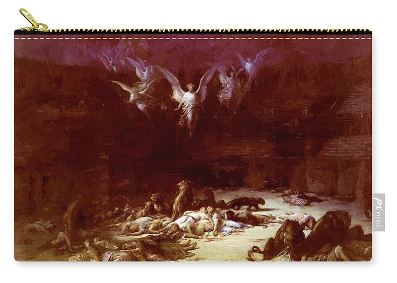 The Carry-all Pouch featuring the painting The Christian Martyrs by Dore Gustave