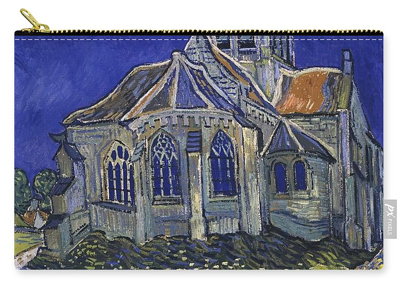 Vincent Van Gogh Carry-all Pouch featuring the painting The Church At Auvers by Van Gogh