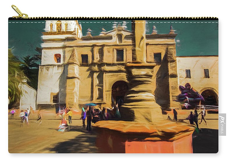 Michael Setiabudi Carry-all Pouch featuring the photograph The Church Of San Juan Bautista Of Coyoacan 2 by Michelle Saraswati
