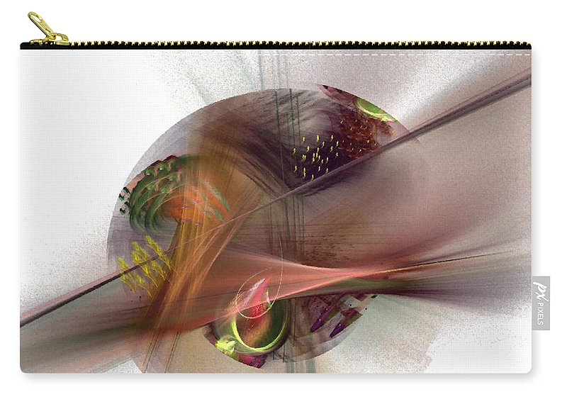 Abstract Carry-all Pouch featuring the digital art The Circle Sea by NirvanaBlues