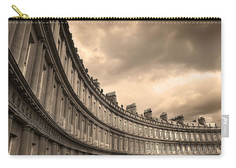 Bath Carry-all Pouch featuring the photograph The Circus Bath England by Mal Bray