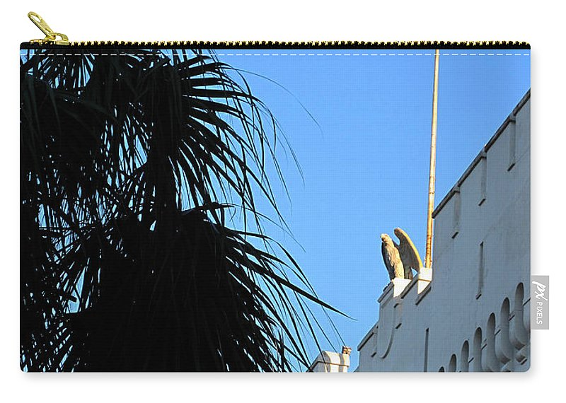 Photography Carry-all Pouch featuring the photograph The Citadel In Charleston by Susanne Van Hulst