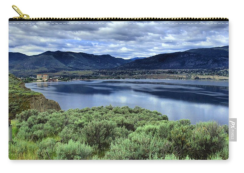 Clouds Carry-all Pouch featuring the photograph The City And The Clouds by Tara Turner