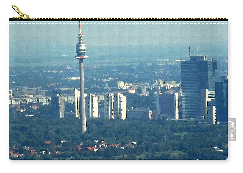 Austria Carry-all Pouch featuring the photograph The City Of Vienna Austria by Ian MacDonald