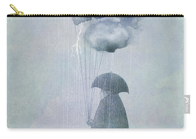 Clouds Carry-all Pouch featuring the painting The Cloud Seller by Eric Fan