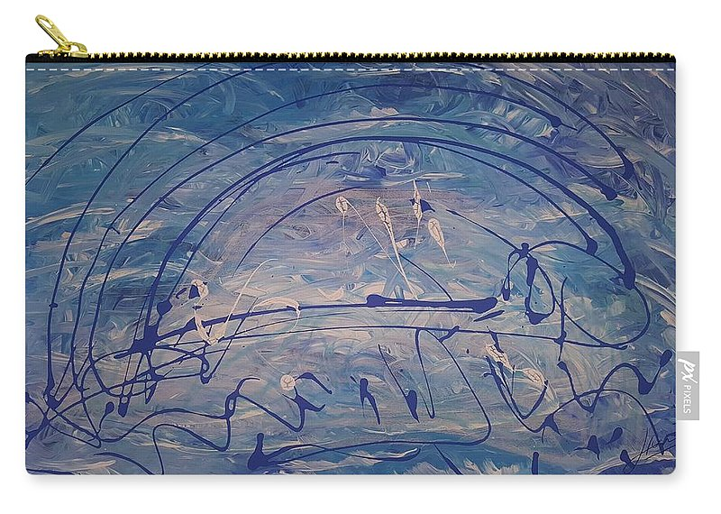 Carry-all Pouch featuring the painting The Clouds, The Ocean, The Bridge by Keri Fuller