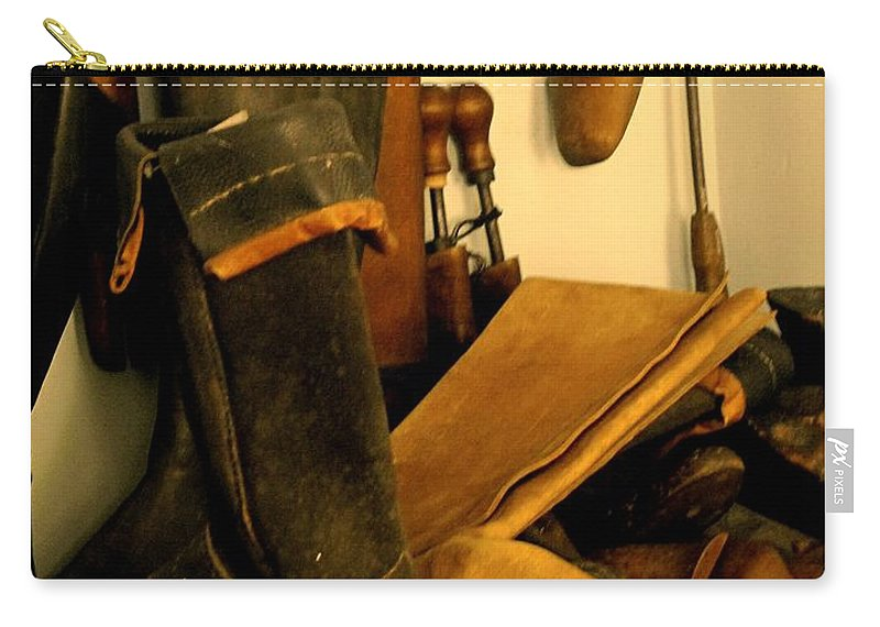 Shoess Carry-all Pouch featuring the photograph The Cobbler by Ian MacDonald