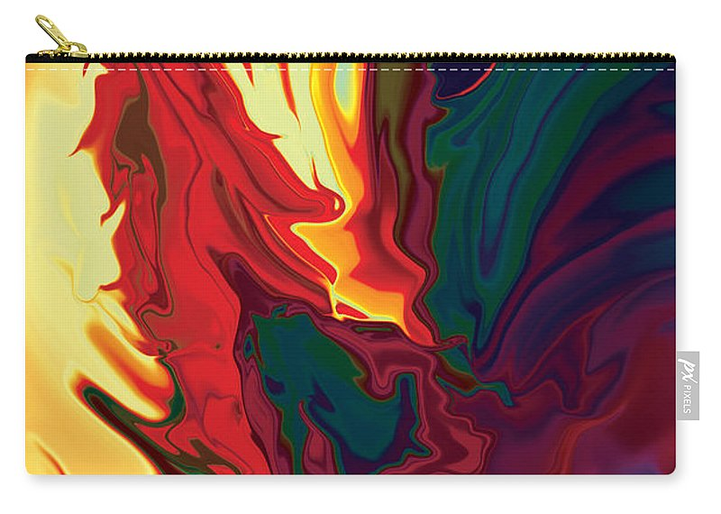 Animals Carry-all Pouch featuring the digital art The Cock 2 by Rabi Khan