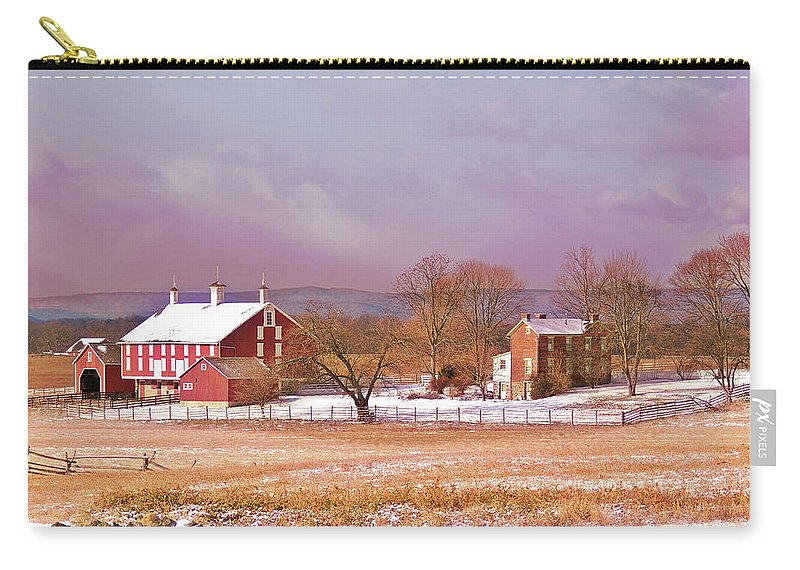 Gettysburg Carry-all Pouch featuring the photograph The Codori Farm by Jen Goellnitz