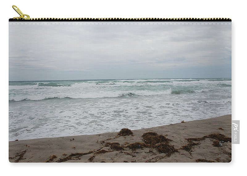 Water Carry-all Pouch featuring the photograph The Cold Sea by Rob Hans