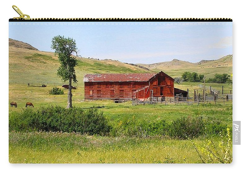 Montana Carry-all Pouch featuring the photograph The Color Of Montana by Susan Kinney