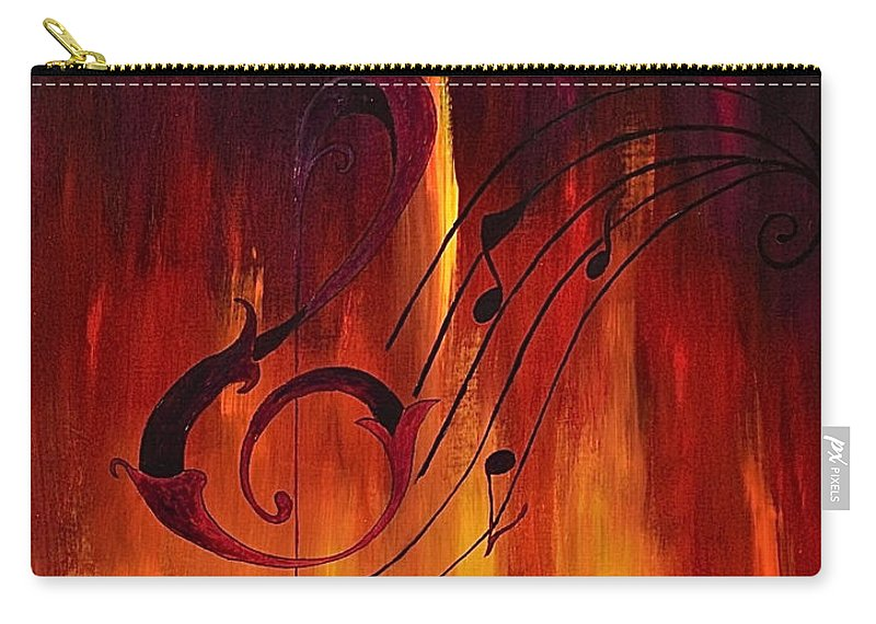 Abstract / Music Carry-all Pouch featuring the painting The Color Of Music by Herschel Fall