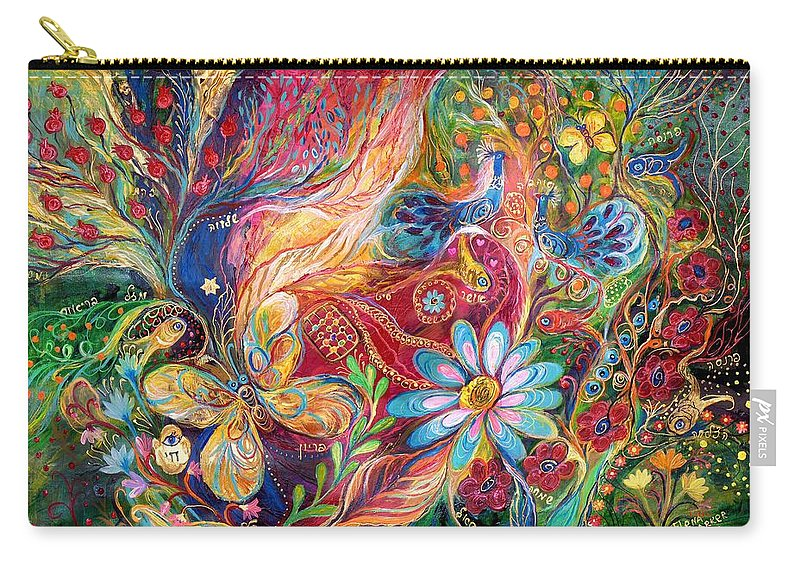 Original Carry-all Pouch featuring the painting The Colors Of Spring. The Original Can Be Purchased Directly From Www.elenakotliarker.com by Elena Kotliarker