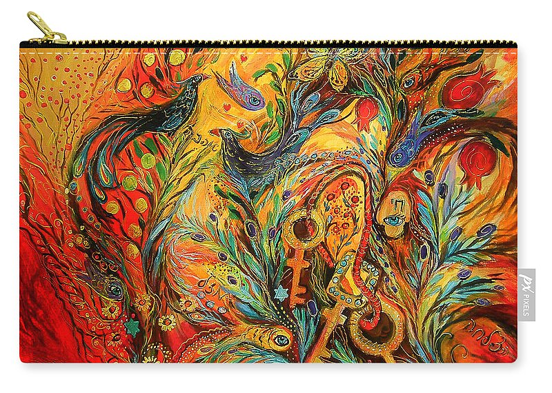 Original Carry-all Pouch featuring the painting The Colors Of Sunrise by Elena Kotliarker