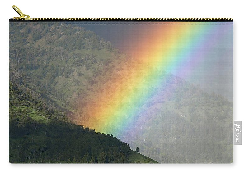 Rainbow Carry-all Pouch featuring the photograph The Colors Of The Rainbow by DeeLon Merritt