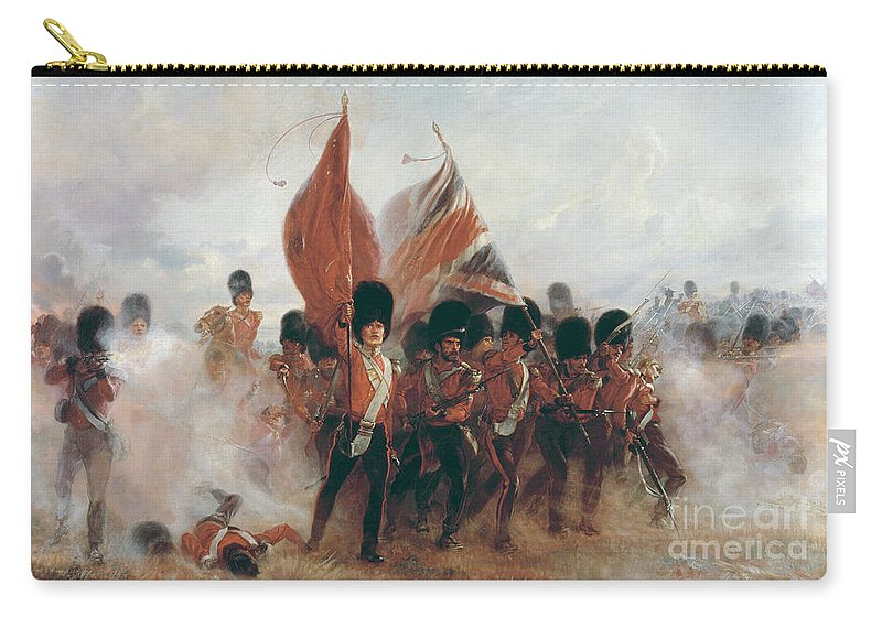 War Carry-all Pouch featuring the painting The Colours by Elizabeth Southerden Thompson