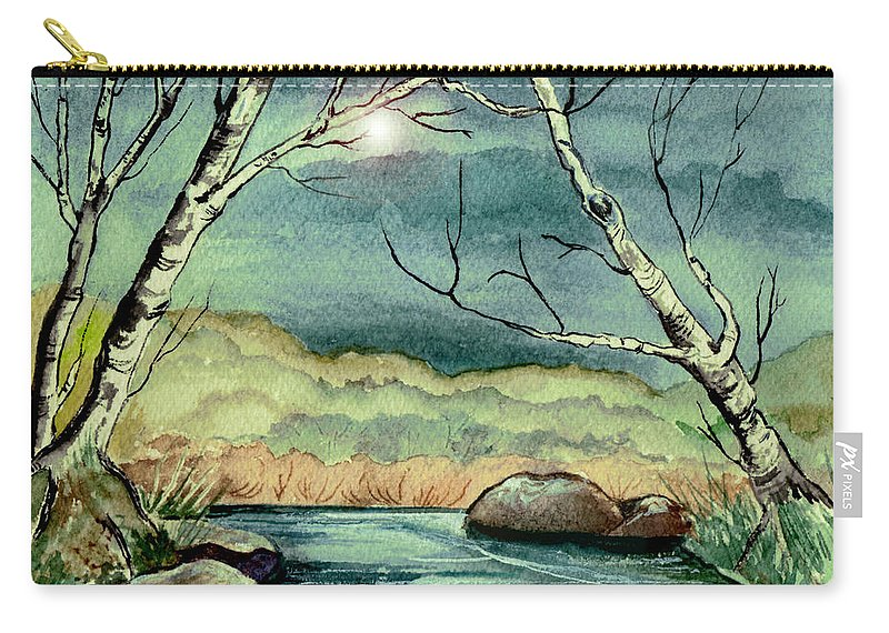 Watercolor Carry-all Pouch featuring the painting The Coming Storm by Brenda Owen