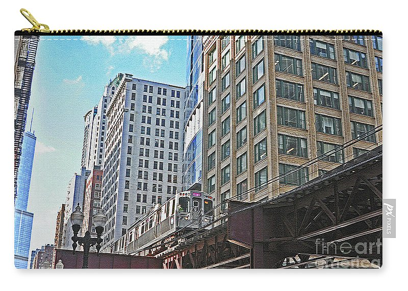 Chicago Carry-all Pouch featuring the photograph The Commute Home by Lydia Holly
