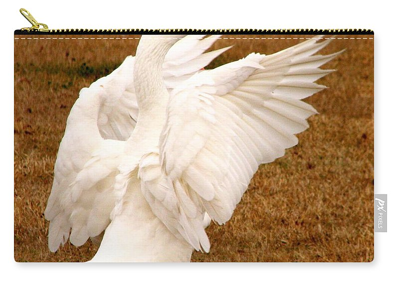 Geese Carry-all Pouch featuring the photograph The Conductor by J M Farris Photography