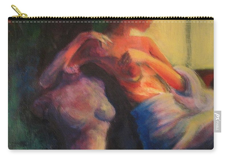 Bright Carry-all Pouch featuring the painting The Confidante by Jason Reinhardt