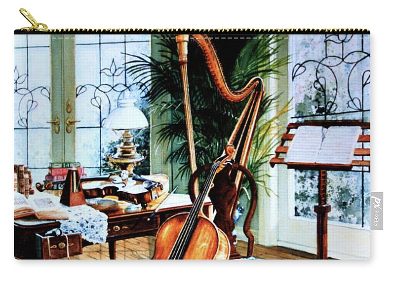 Still Life Art Carry-all Pouch featuring the painting The Conservatory by Hanne Lore Koehler