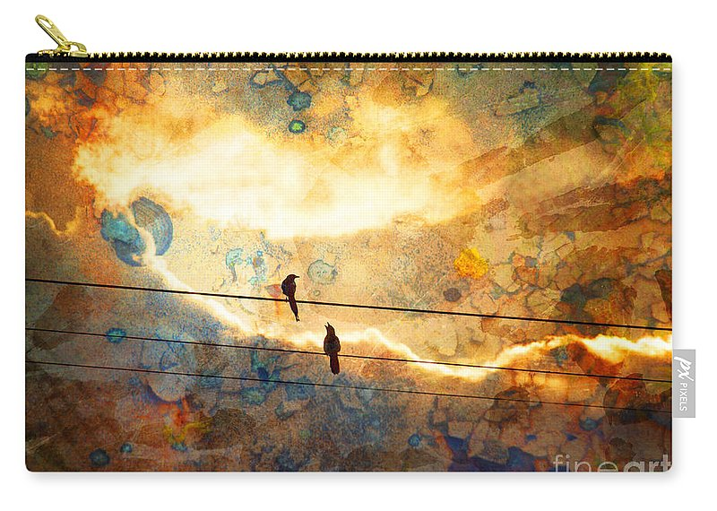 Texture Carry-all Pouch featuring the photograph The Conversation by Tara Turner