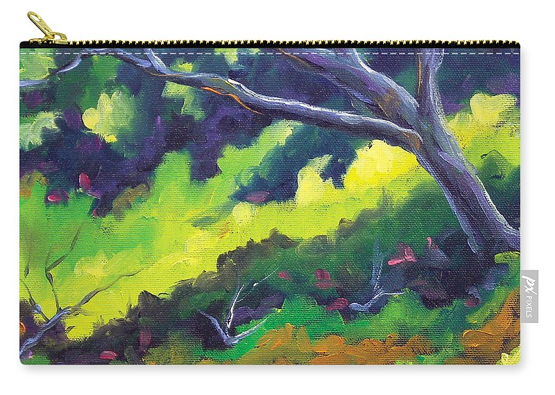 Art Carry-all Pouch featuring the painting The Cool Shade by Richard T Pranke
