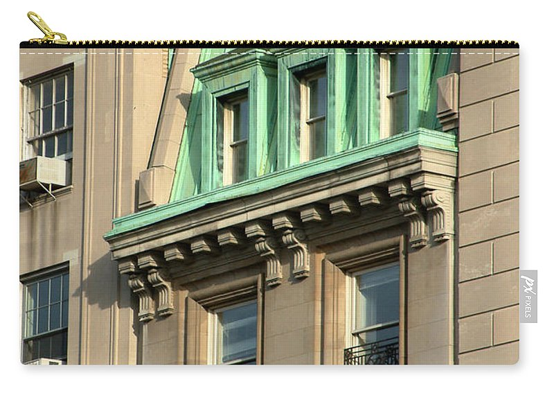 Apartments Carry-all Pouch featuring the photograph The Copper Attic by RC DeWinter