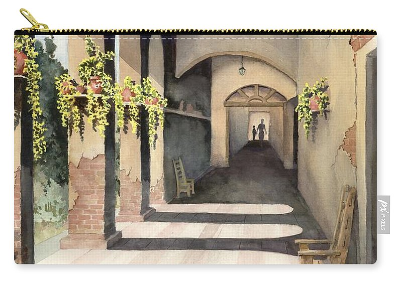 Plants Carry-all Pouch featuring the painting The Corridor 2 by Sam Sidders