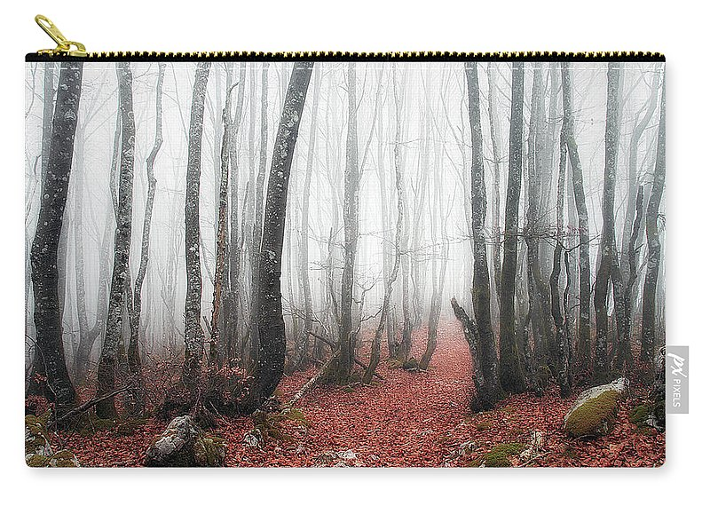Forest Carry-all Pouch featuring the photograph The Corridor by Mikel Martinez de Osaba