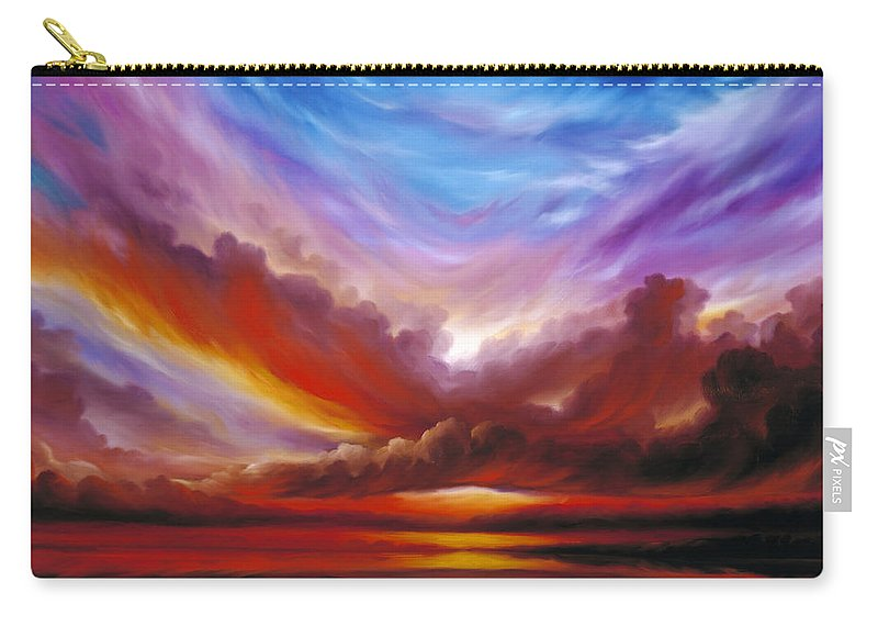 Skyscape Carry-all Pouch featuring the painting The Cosmic Storm II by James Christopher Hill