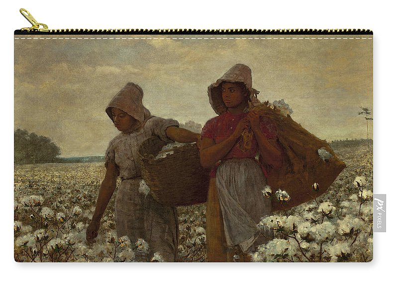 Winslow Homer Carry-all Pouch featuring the painting The Cotton Pickers by Winslow Homer