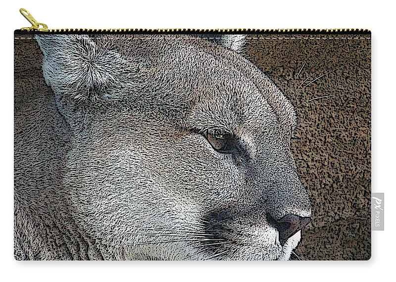 Mountain Lion Carry-all Pouch featuring the photograph The Cougar by Ernie Echols