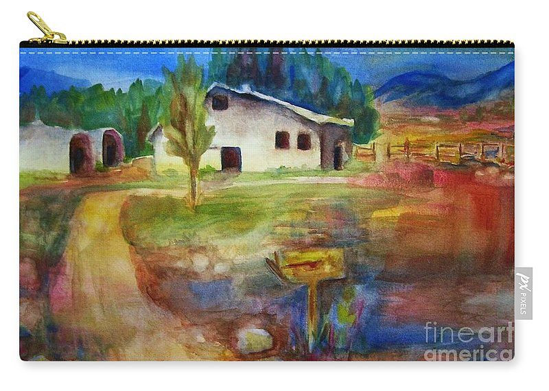 Country Barn Carry-all Pouch featuring the painting The Country Barn by Frances Marino